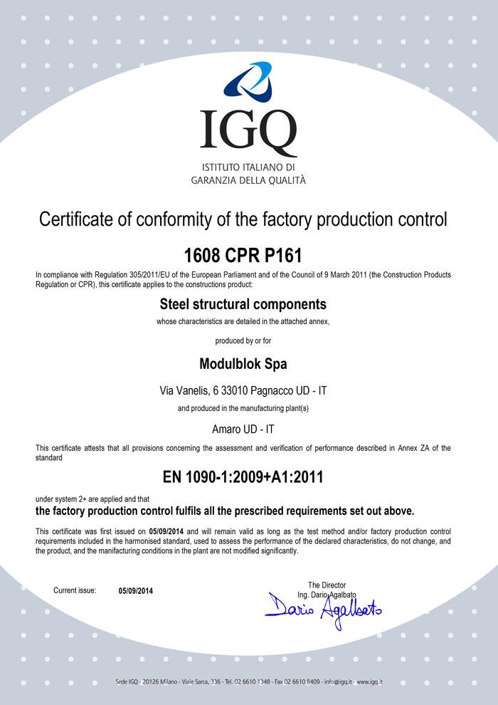 Modulblok ICQ EN 1090 Certification