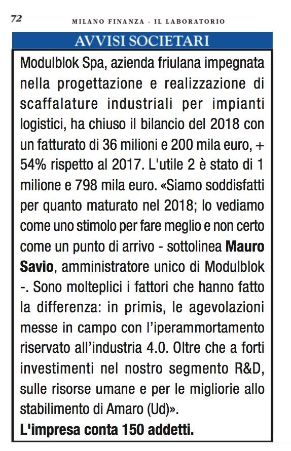Articolo Modulblok Milano